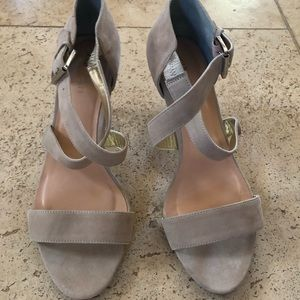 Sole Society nude suede sandal